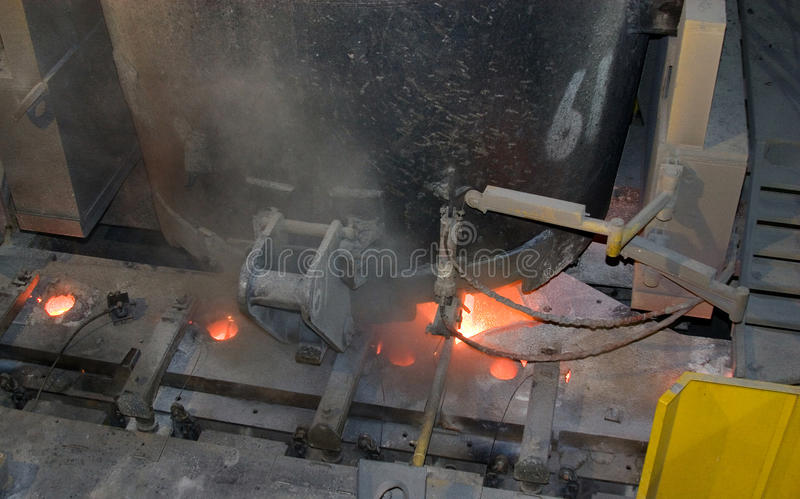Continuous casting for steel. royalty free stock photo