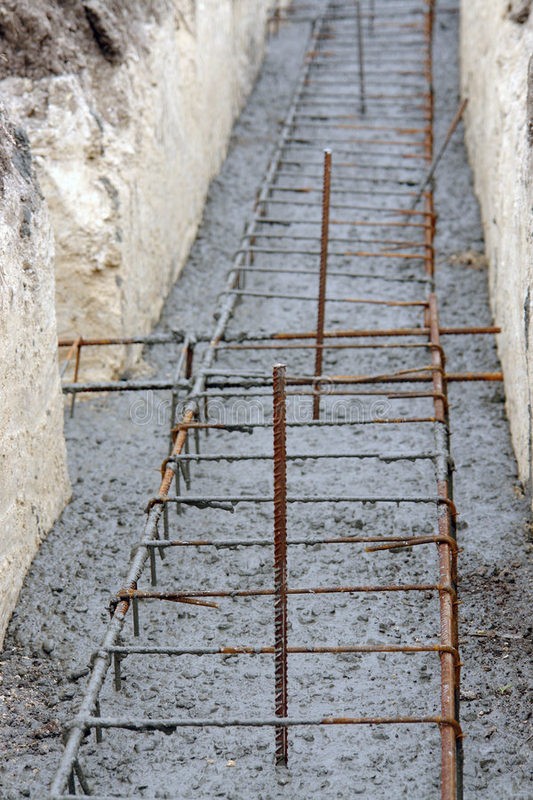 Continuous Footing Foundation Stock Photos