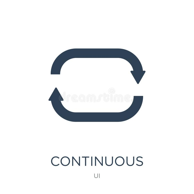 continuous icon in trendy design style. continuous icon isolated on white background. continuous vector icon simple and modern royalty free illustration