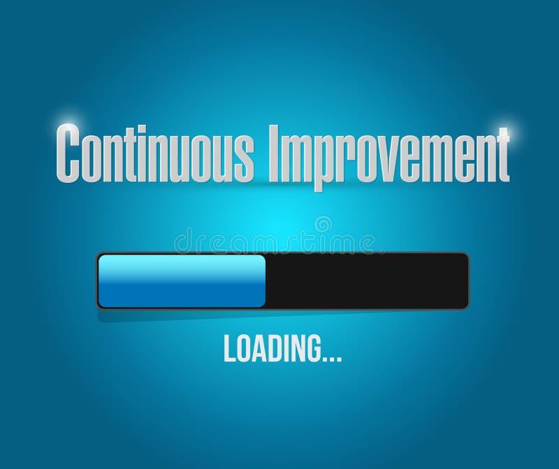 Continuous improvement loading bar sign concept. Illustration design over blue background stock illustration
