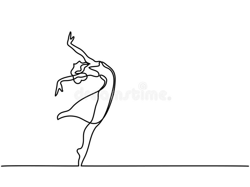 Ballet Dancer ballerina royalty free illustration