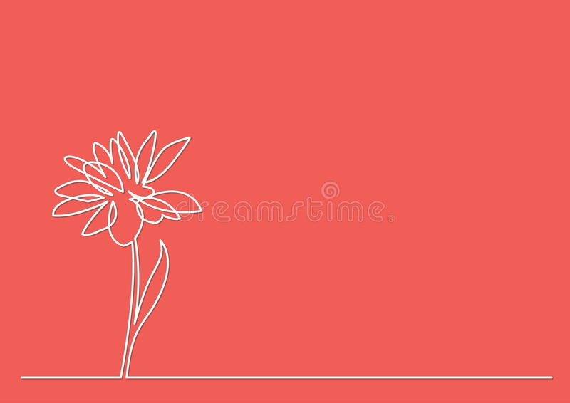 Line Drawing Editor : Continuous line drawing of beautiful flower stock vector