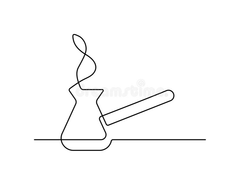 One line coffee maker. Continuous line drawing of coffee maker on white background. Vector illustration royalty free illustration