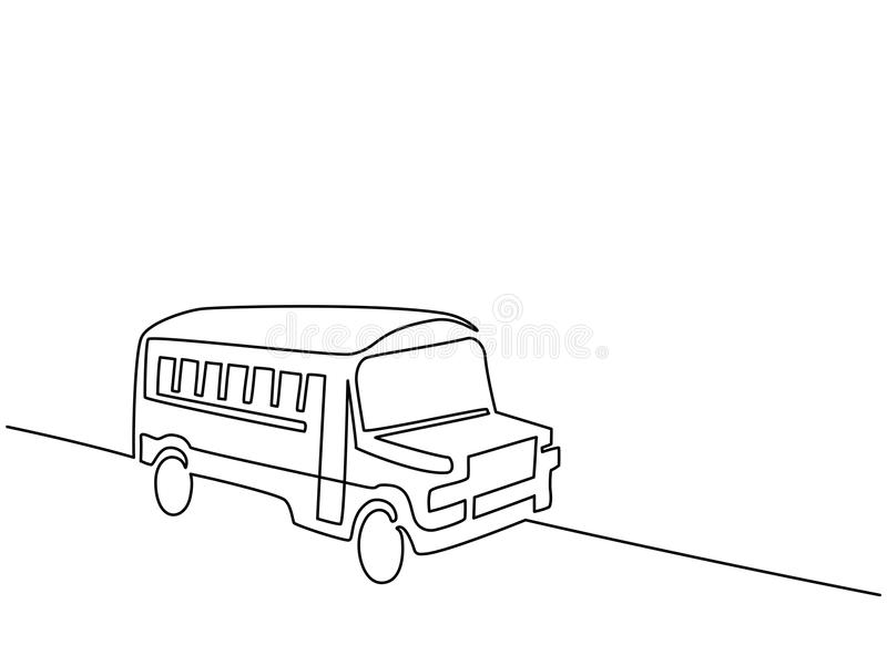 Concept school bus. Continuous line drawing. Concept school bus. Vector illustration vector illustration
