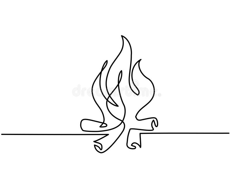 Fire outline icons on white background vector illustration