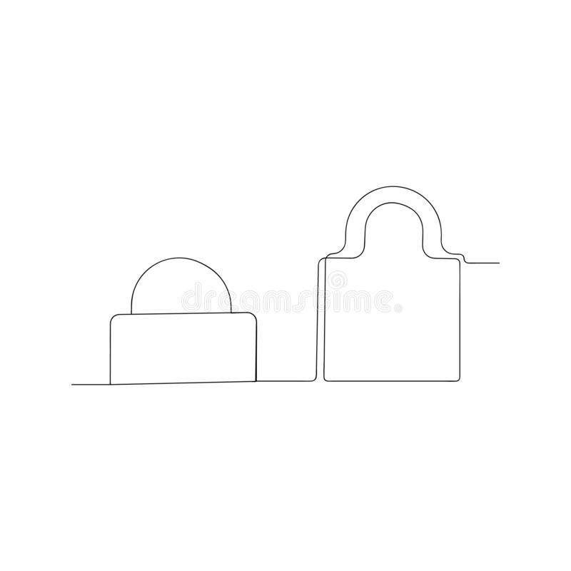 continuous line drawing of indissoluble. isolated sketch drawing of indissoluble line concept. outline thin stroke vector royalty free illustration