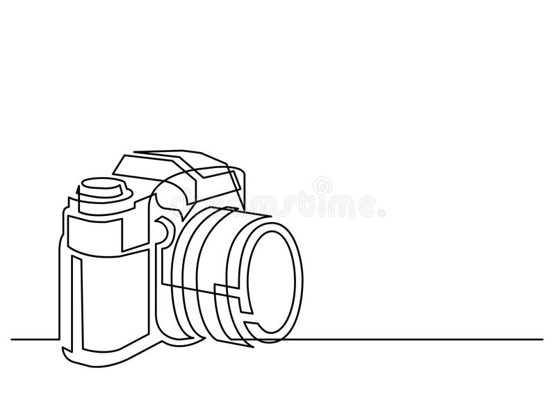 Continuous Line Drawing Of Professional Photo Camera Stock Vector Illustration Of Isolated Device 88009839