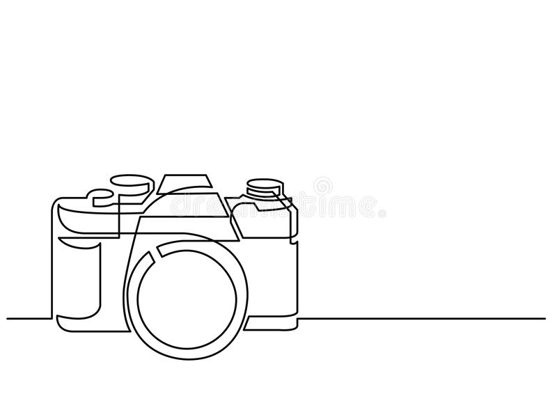Drawing Vector Lines In Photo Cs : Continuous line drawing of retro photo camera stock vector
