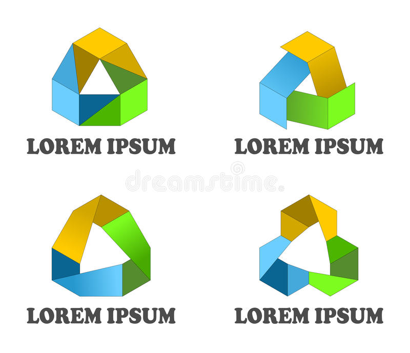 Continuous loop design elements stock images