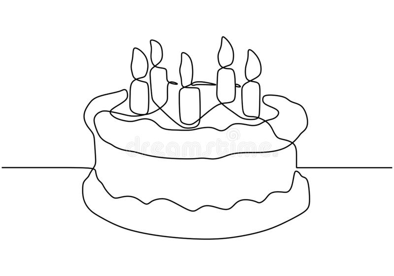 Phenomenal Drawing Line Cake Stock Illustrations 6 216 Drawing Line Cake Personalised Birthday Cards Vishlily Jamesorg