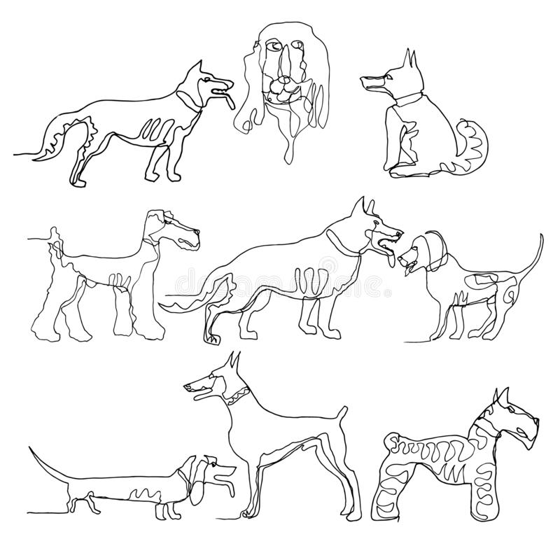 Dogs Show Stock Illustrations