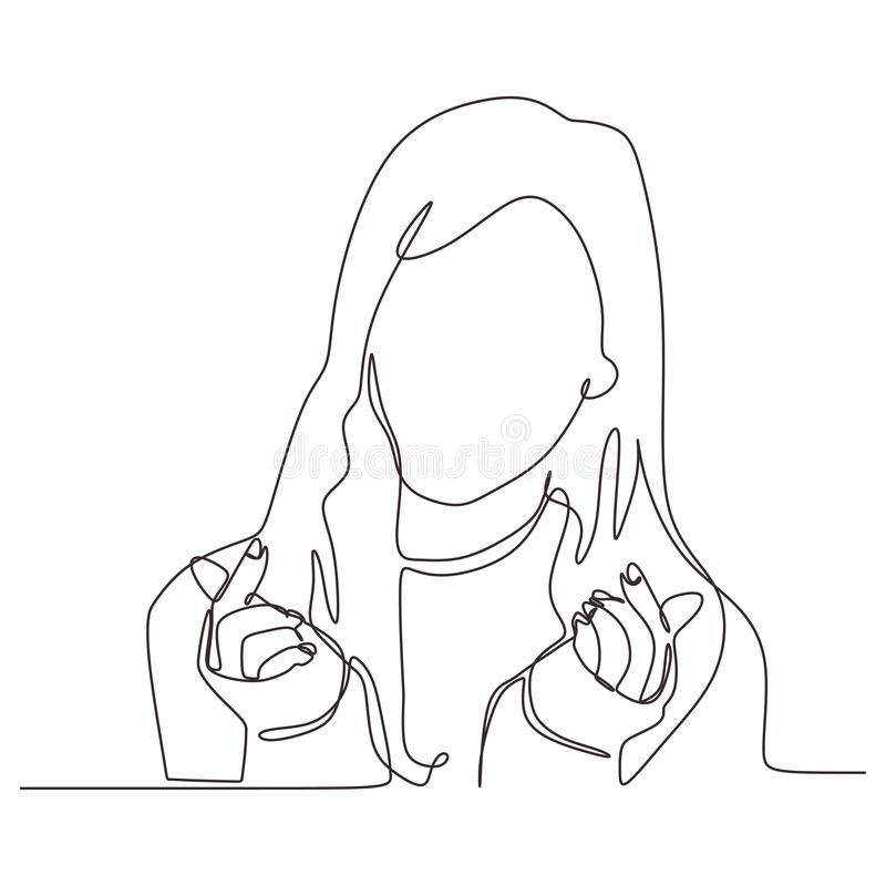 Free Continuous One Line Drawing Of Beauty Women Sketch Hand Drawn Vector Illustration Minimalism. Portrait Of Cute Girl With Love Royalty Free Stock Images - 162885789