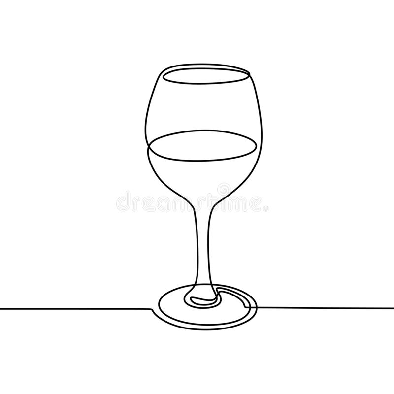 Drawing Of A Glass Of Wine Vector Stock Vector