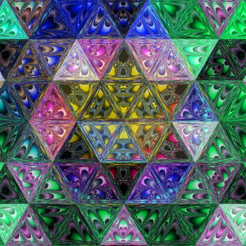 Abstract continuous Pattern with Colorful Tender Triangles. stock photo