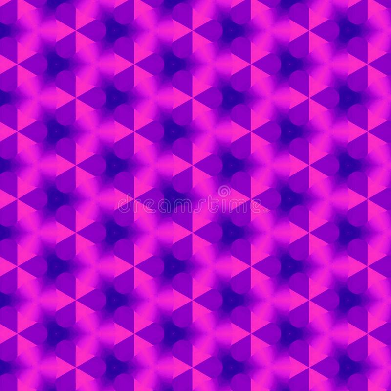 Continuous pattern in ultra violet bright color for textile or wallpaper stock illustration