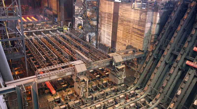 Continuous steel casting machine. royalty free stock image