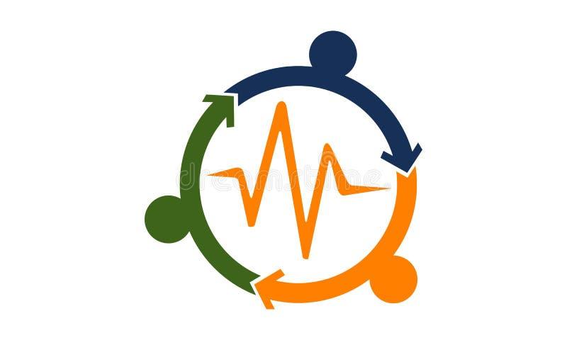 Continuumgezondheidszorg stock illustratie