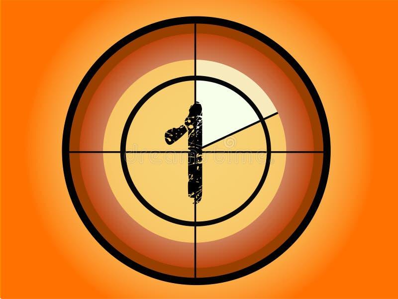 Conto alla rovescia del cerchio - a 1 illustrazione vettoriale