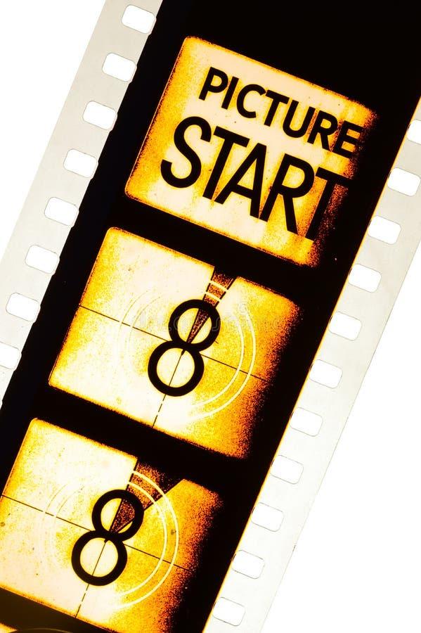 Conto alla rovescia del film del cinema fotografia stock libera da diritti