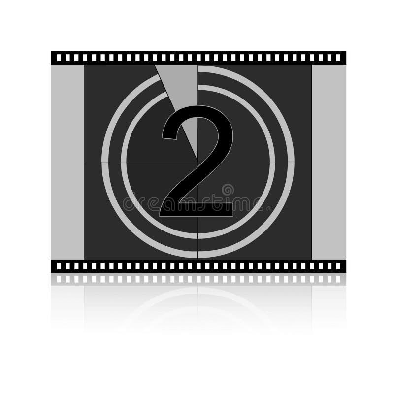 Conto alla rovescia della pellicola - due immagine stock libera da diritti