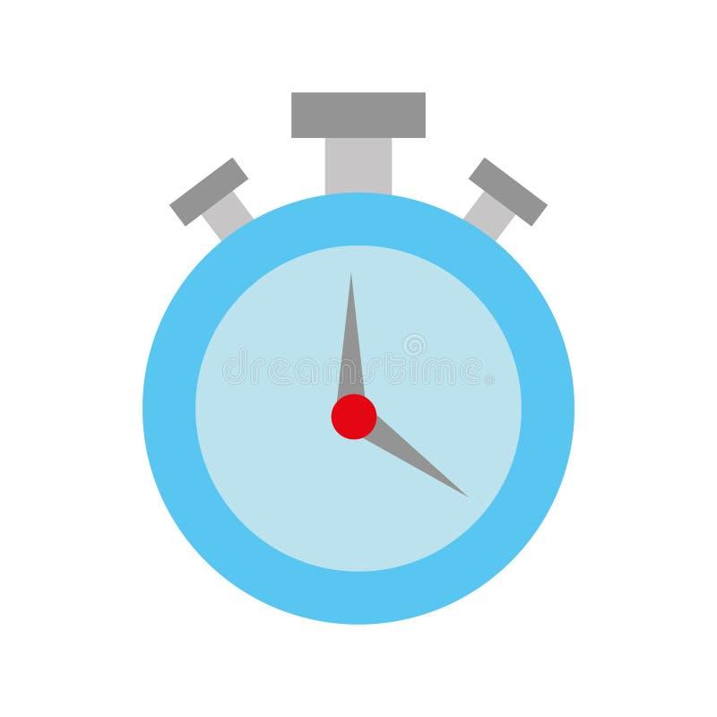Conto alla rovescia rotondo di ora del temporizzatore del cronometro illustrazione vettoriale