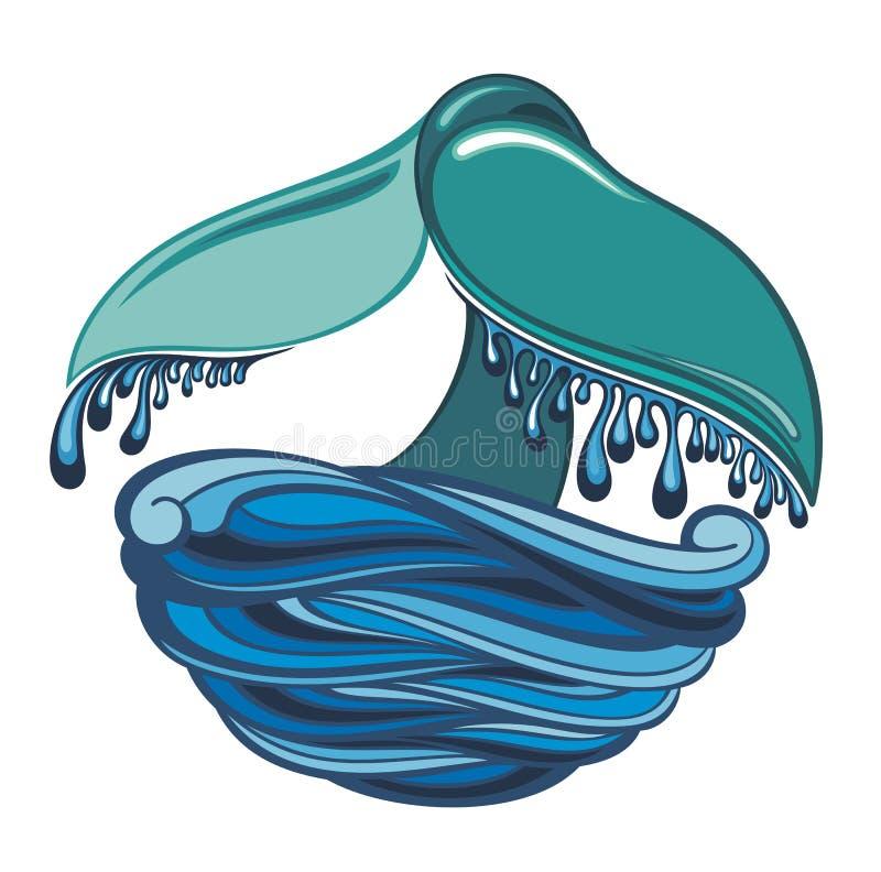 Conto da baleia - vector a ilustração, projeto do vetor ilustração stock