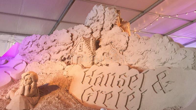Conto de fadas da escultura da areia imagens de stock