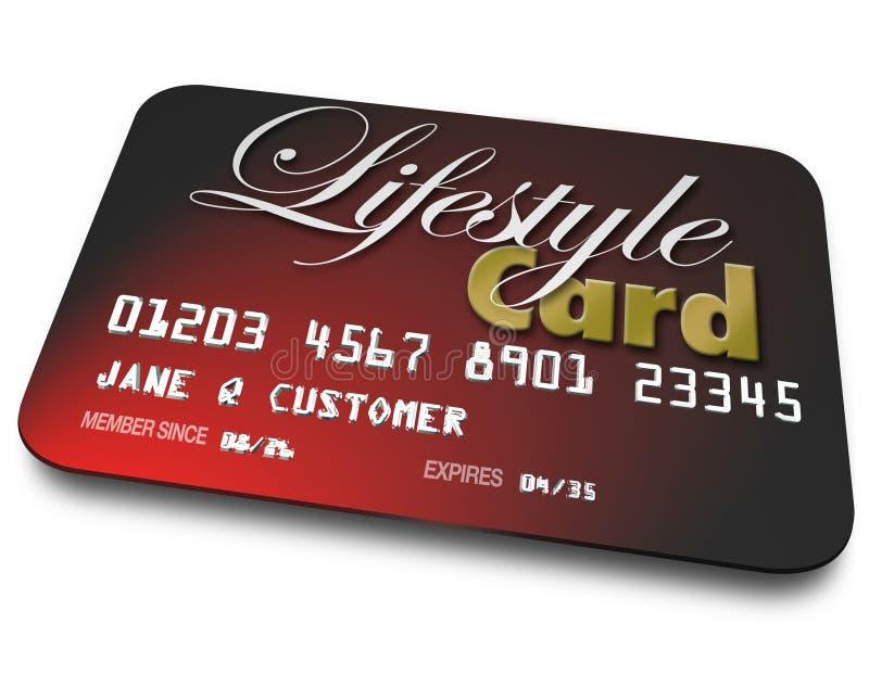 Conto di creditori della carta di stile di vita che prende in prestito acquisto di erogazione in denaro illustrazione vettoriale