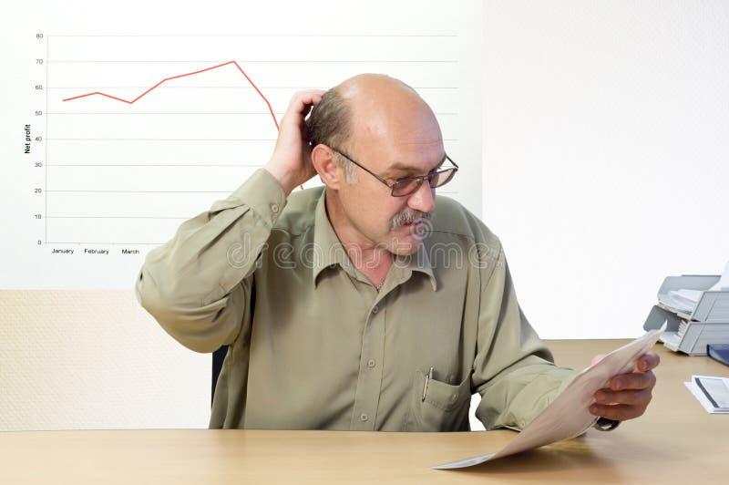 Conto finanziario fotografia stock