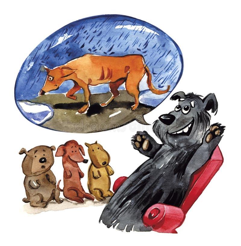Conto para filhotes de cachorro ilustração royalty free