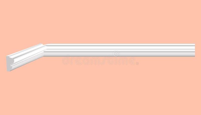Contornando o teto branco plástico com vetor realístico dos desenhos ilustração do vetor