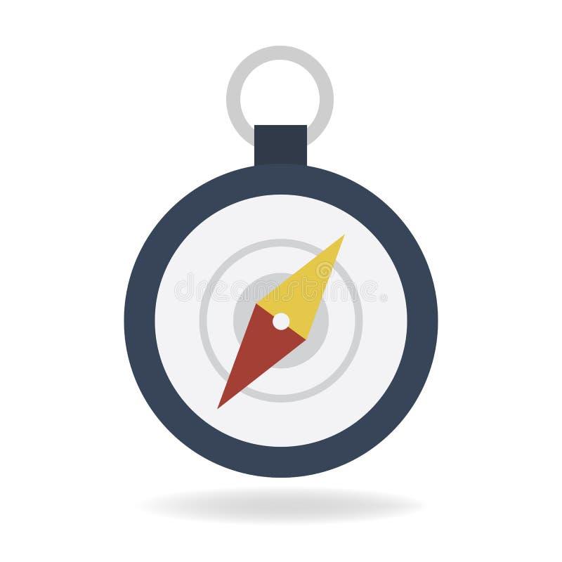 Contornee el icono, estilo plano del diseño del illustion del vector stock de ilustración