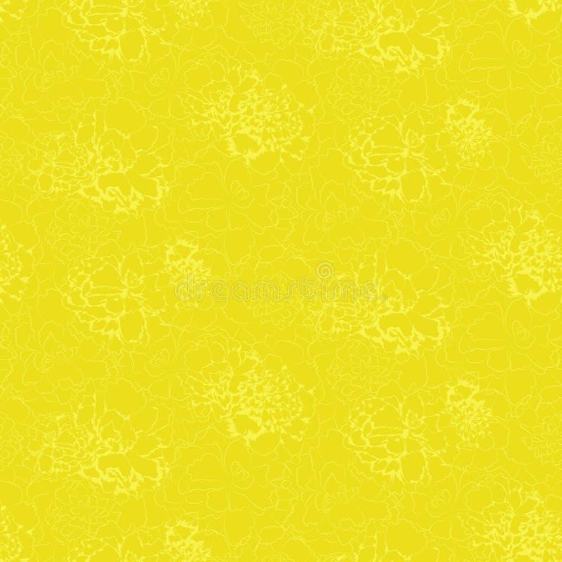 Contorni dei fiori astratti su fondo verde inglese illustrazione di stock