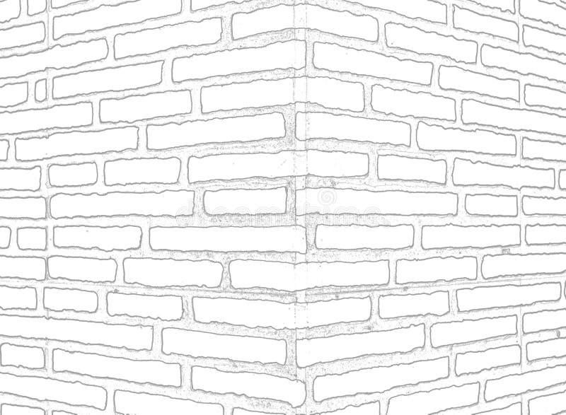 Contorni della struttura dell'angolo della costruzione, simulante muratura illustrazione di stock