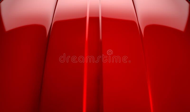 Contorno Cherry Red dell'automobile immagine stock