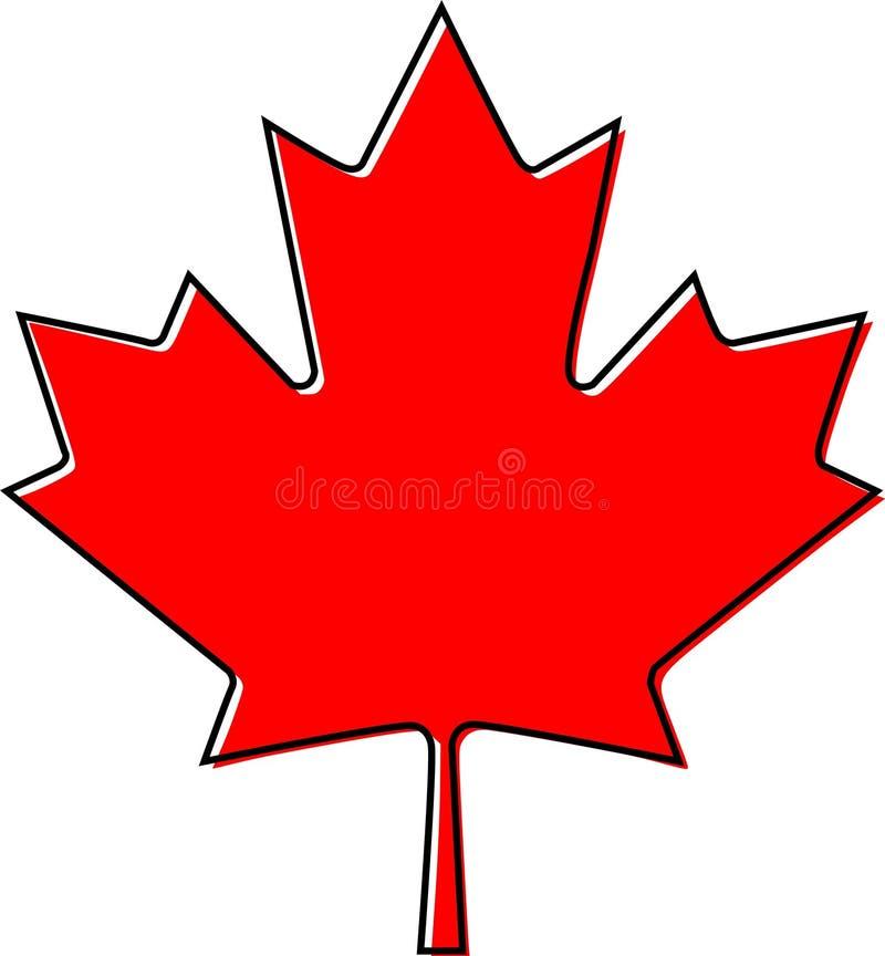 Contorno da beira do offset da folha de bordo de Canadá ilustração do vetor