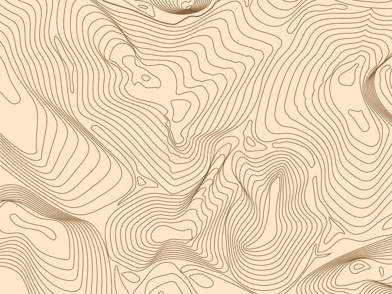 Contorno topográfico de fundo do quadro de arame abstrato Ilustração vetorial ilustração do vetor