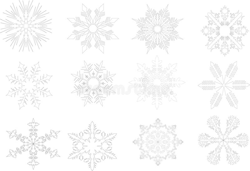 Contornos del copo de nieve libre illustration