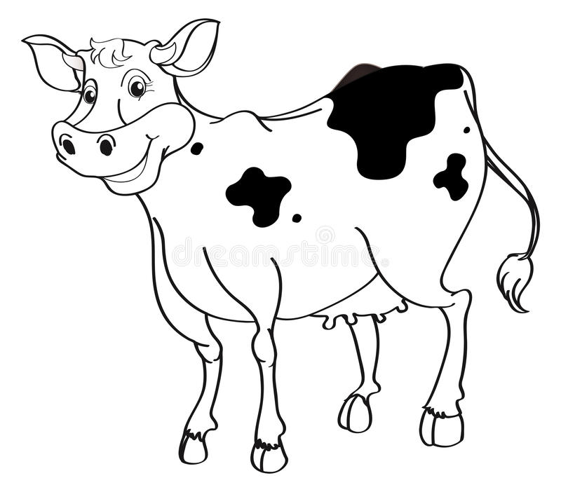 Contour animal pour la vache illustration de vecteur