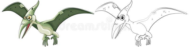 Contour animal pour le pterosaur illustration stock