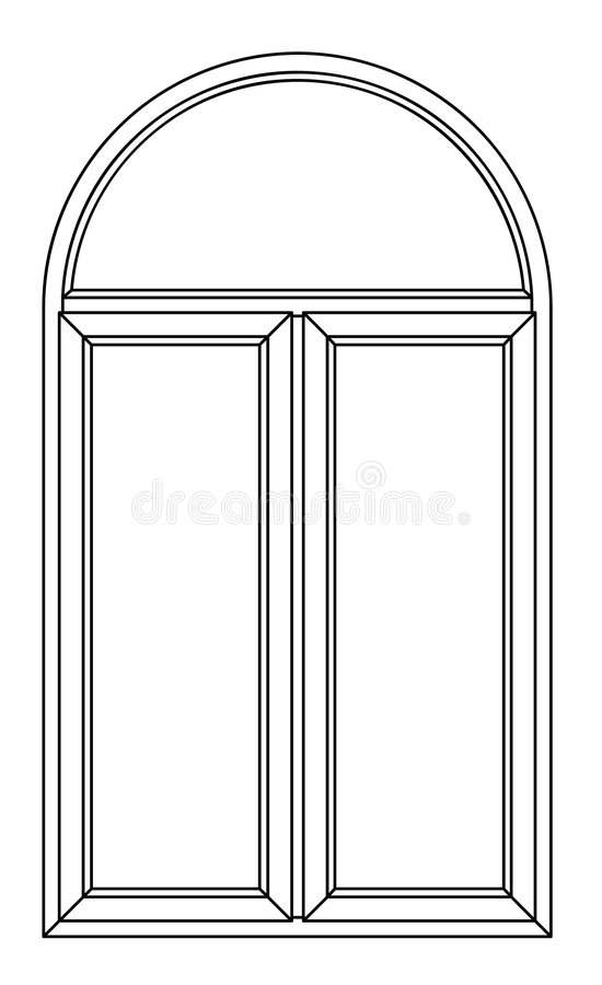Contour Arch Window Royalty Free Stock Image