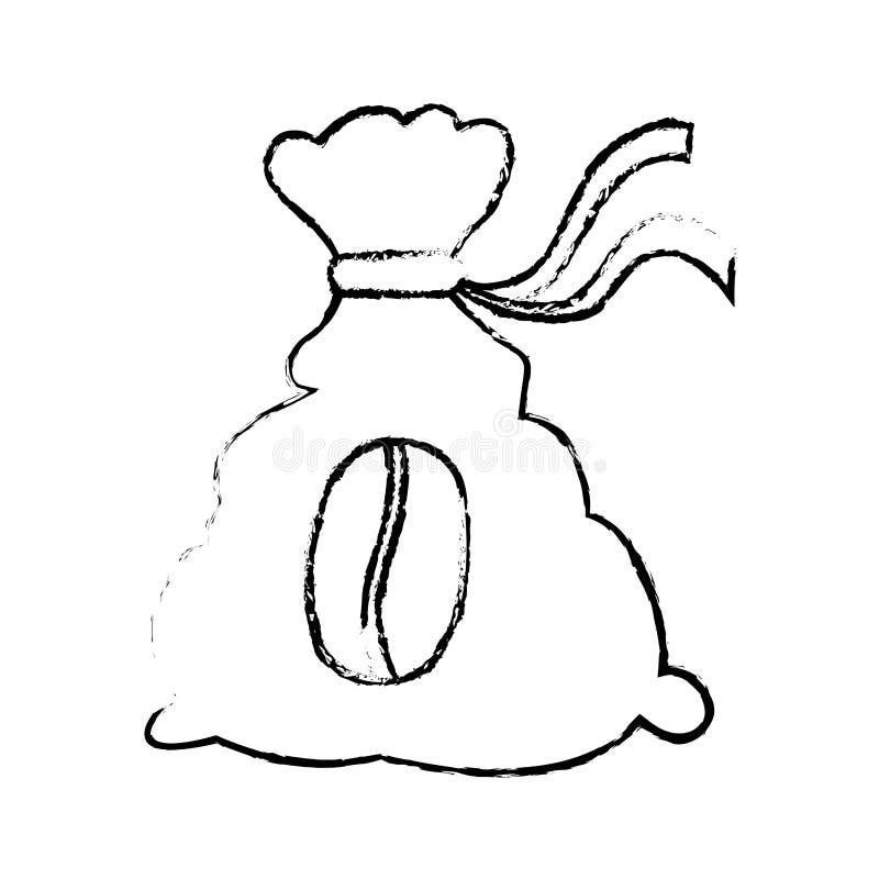 Contour coffee sack icon image. Illustration vector illustration