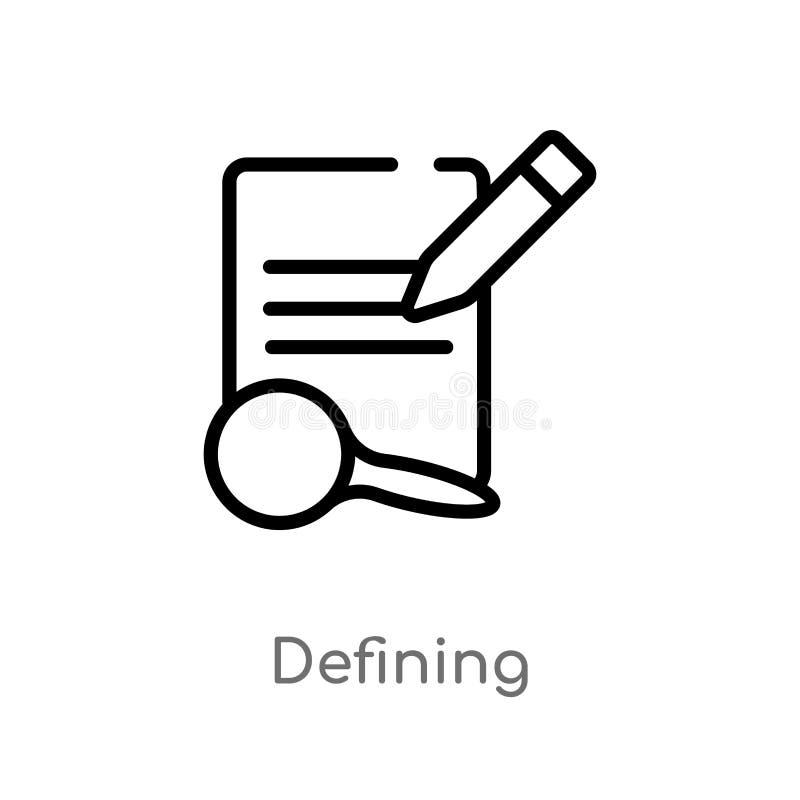 contour définissant l'icône de vecteur la ligne simple noire d'isolement illustration d'élément de éditent le concept d'outils Co illustration libre de droits