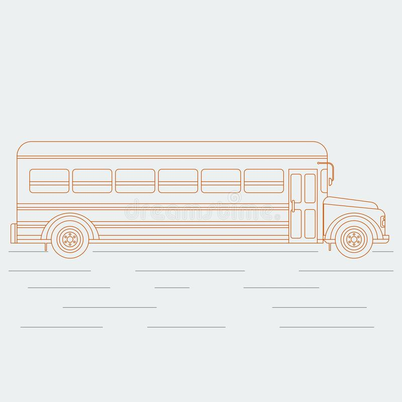 Contour d'autobus scolaire illustration de vecteur