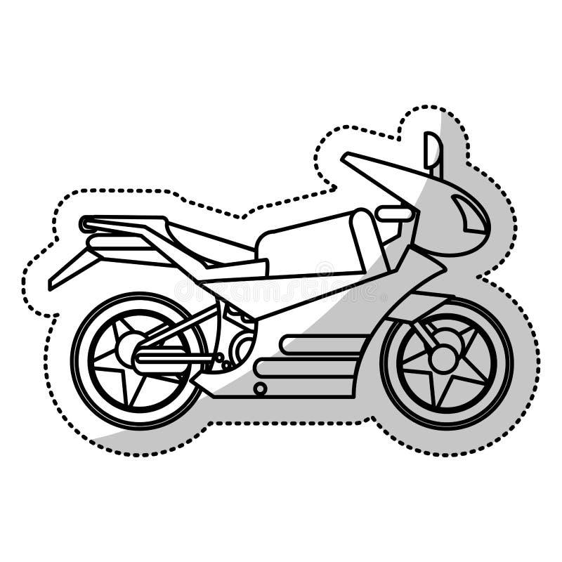 contour d'image de transport de moto illustration libre de droits