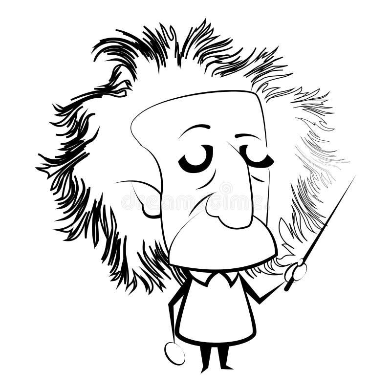 Contour d'isolement d'Einstein illustration libre de droits