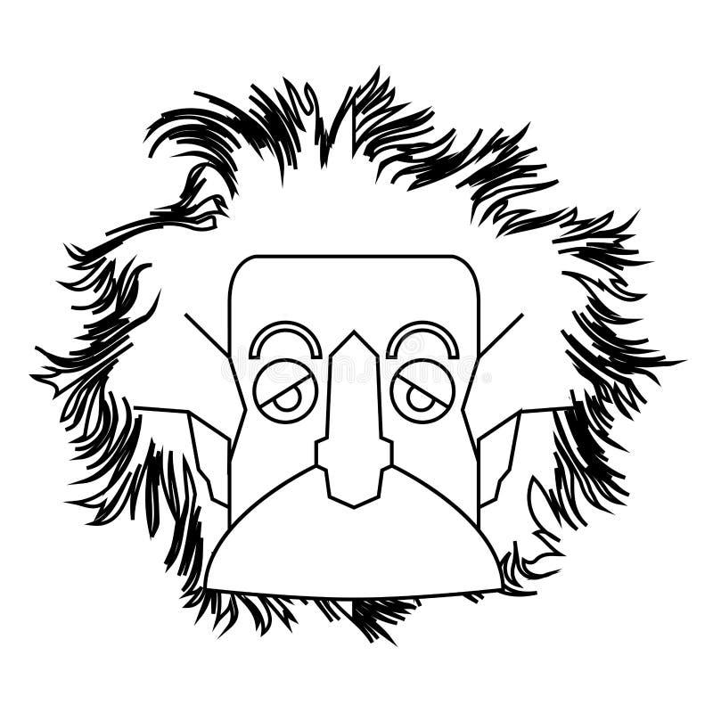 Contour d'isolement d'Einstein illustration de vecteur
