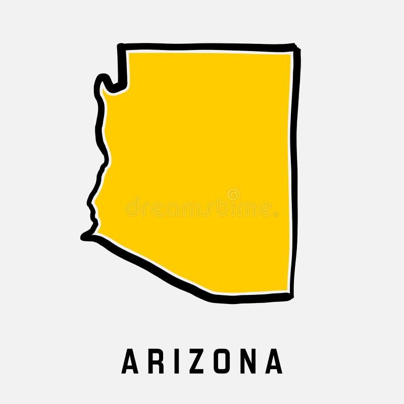 Contour de carte de l'Arizona illustration stock