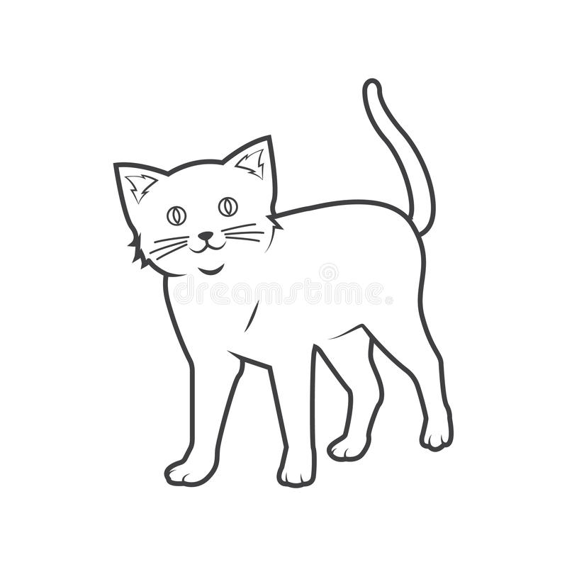Contour de chat illustration stock