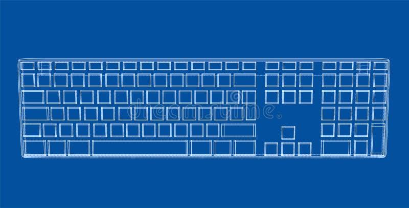 Contour de clavier d'ordinateur illustration stock